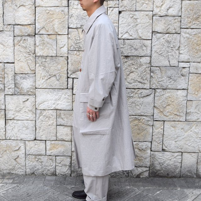 【30% off sale】【2020】FRANK LEDER(フランクリーダー)/ TRIPLE WASHED THIN COTTON COAT -GREY- #0911081-95(4)