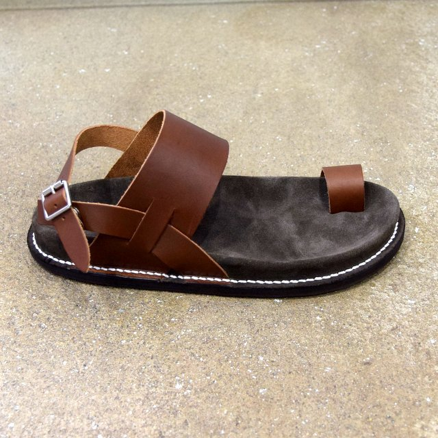 【2020 SS】KAPTAIN SUNSHINE × PHIGVEL / GURKHA FOOTBED SANDALS -BROWN- #KS20SGD06(4)