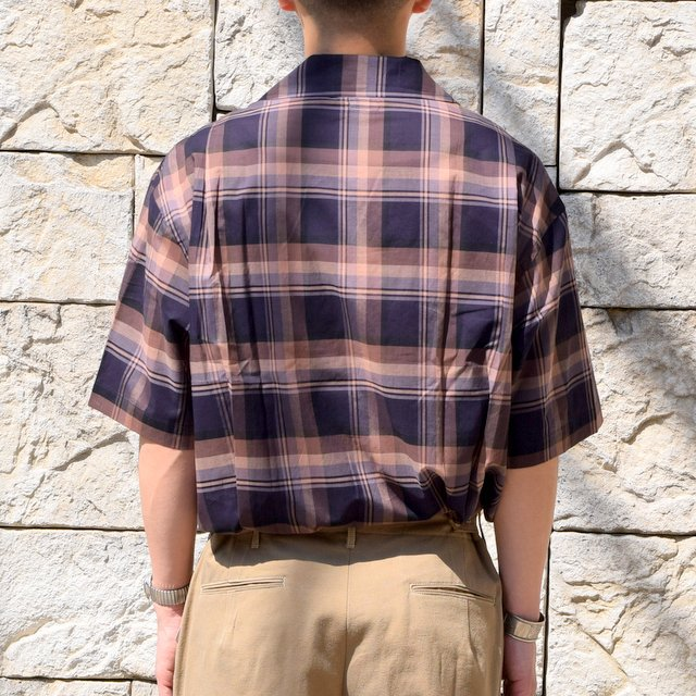 【2020】blurhms(ブラームス) / OPEN COLLAR SHIRT S/S -DARK MADRAS- #BHS-20SS018CP(4)