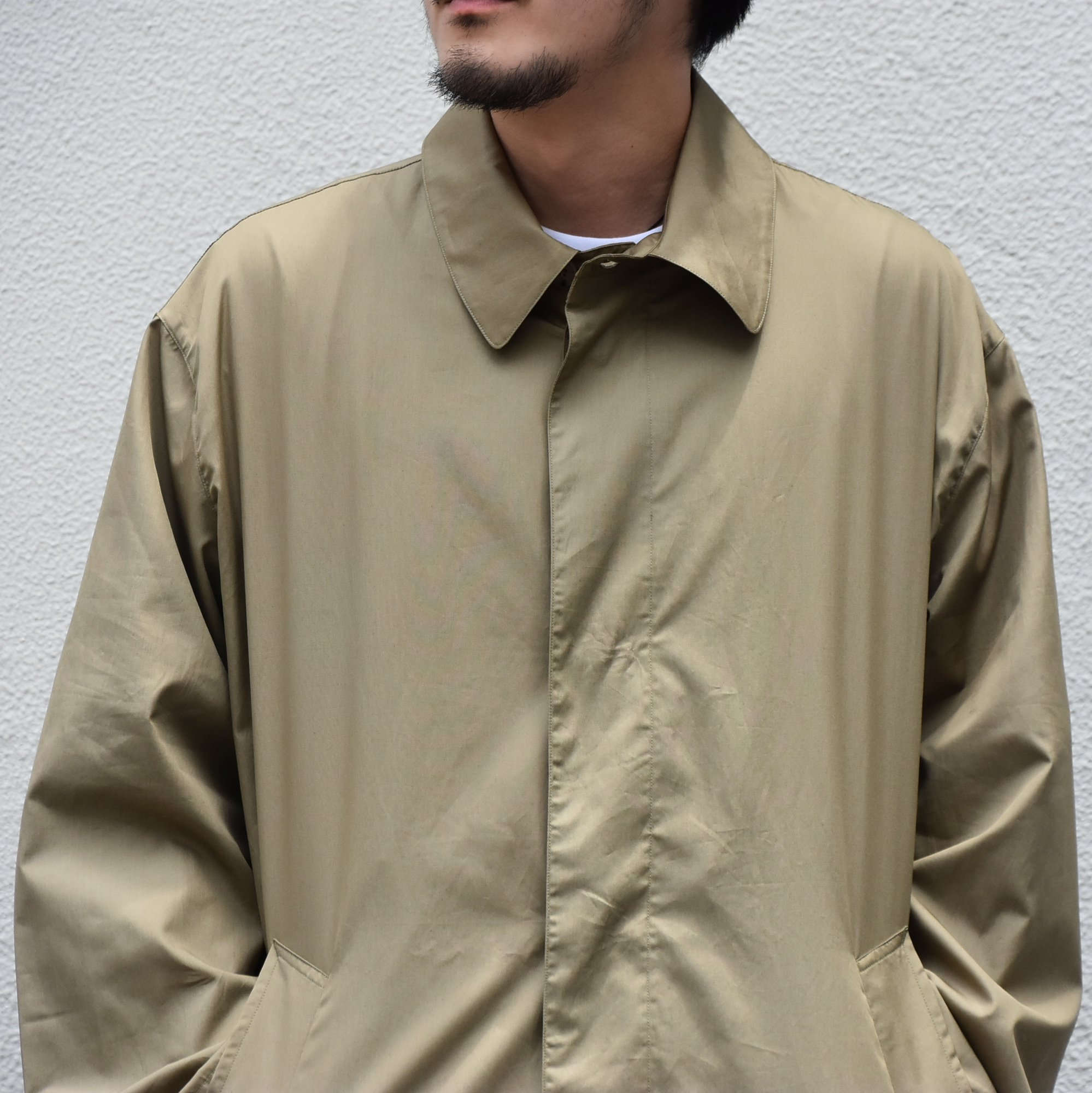 【2020】 Cristaseya(クリスタセヤ)/ OVERSIZED LIGHT COTTON SUMMER TRENCH -Light khaki- #01DA-C-LK(4)