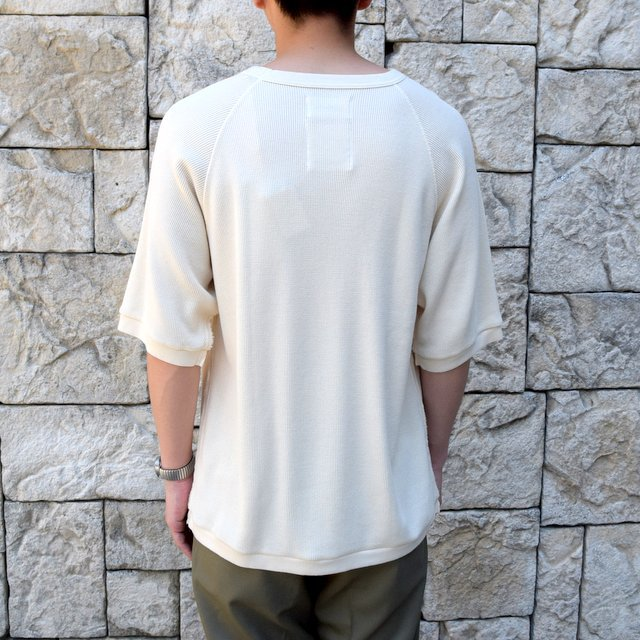 【2020 SS 】 MARKAWARE(マーカウェア)/ WAFFLE ONE SIDE RAGLAN S/S -RAW WHITE- #A20A-12CS01B(4)