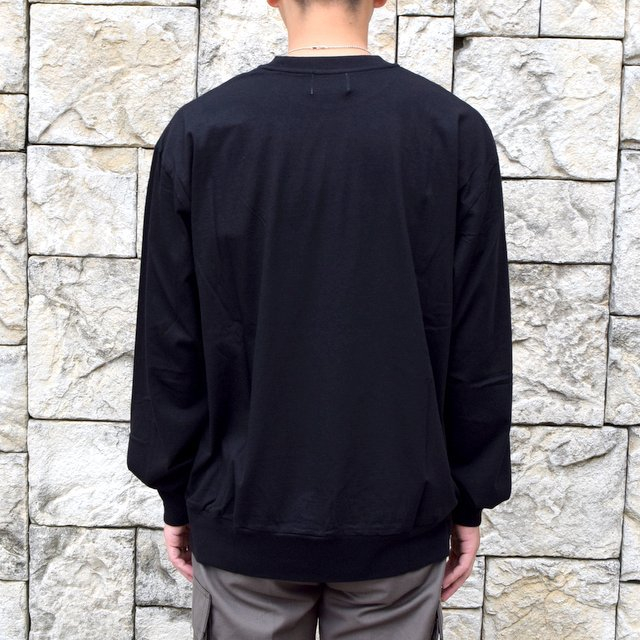 【2020】blurhms ROOTSTOCK(ブラームス) / SILK COTTON JERSEY L/S LOOSE FIT -BLACK- #ROOTS-F206(4)