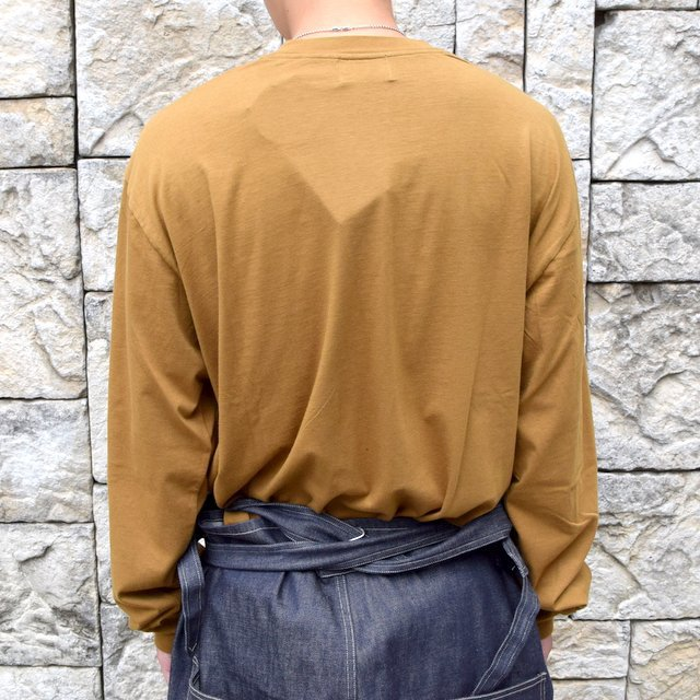 【2020】blurhms ROOTSTOCK(ブラームス) / SILK COTTON JERSEY L/S LOOSE FIT -CAMEL- #ROOTS-F206(4)