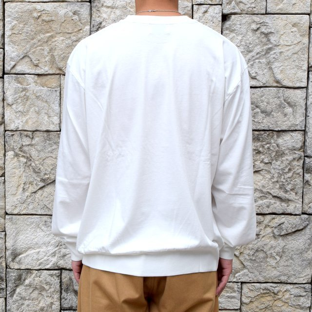 【2020】blurhms ROOTSTOCK(ブラームス) / SILK COTTON JERSEY L/S LOOSE FIT -OFF- #ROOTS-F206(4)