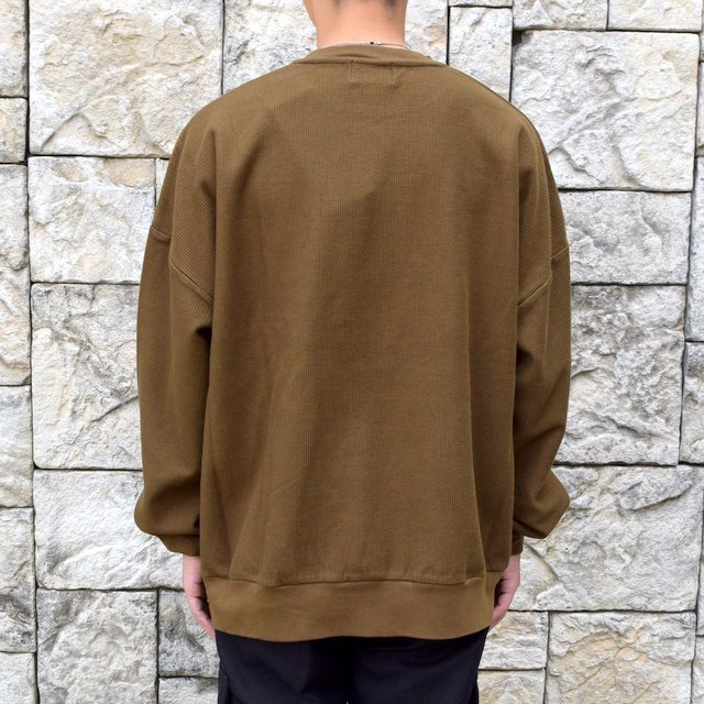 blurhms ROOTSTOCK(ブラームス) / Rough & Smooth Thermal -KHAKI BROWN-(4)