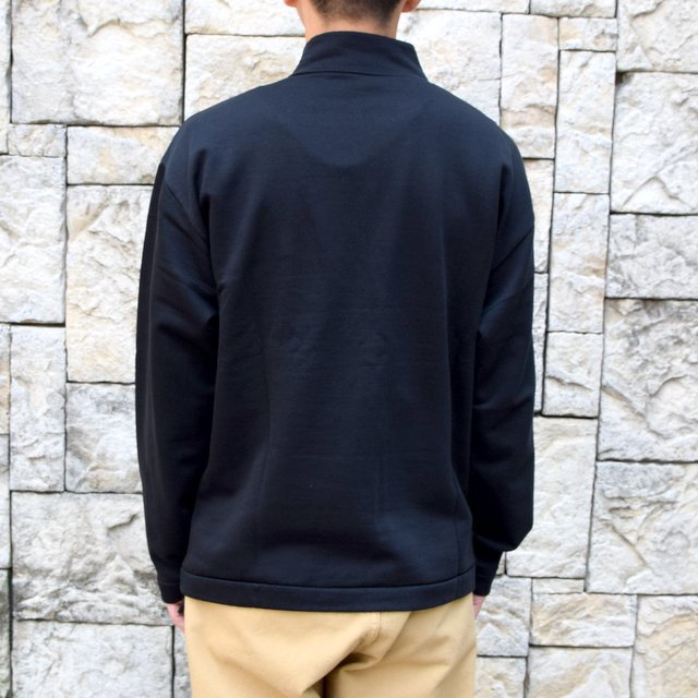 AURALEE(オーラリー)/ ELASTIC HIGH GAUGE SWEAT HALF ZIP P/O -BLACK- #A20AP01NU(4)