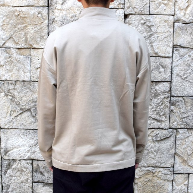 【2020】 AURALEE(オーラリー)/ ELASTIC HIGH GAUGE SWEAT HALF ZIP P/O -KHAKI GRAY- #A20AP01NU(4)