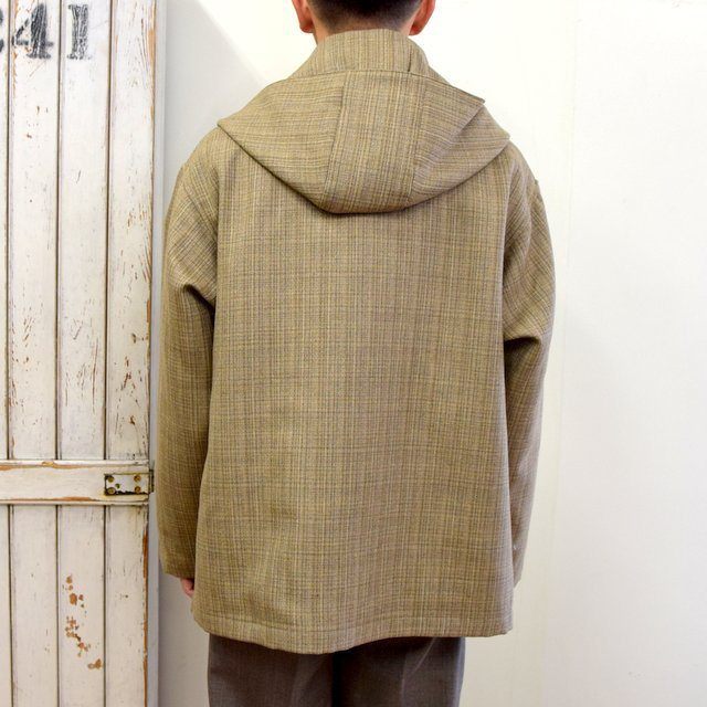 AURALEE(オーラリー)/ BLUEFACED WOOL DOUBLE CLOTH ZIP HOODIE -MIX BEIGE- #A20AB02BN(4)