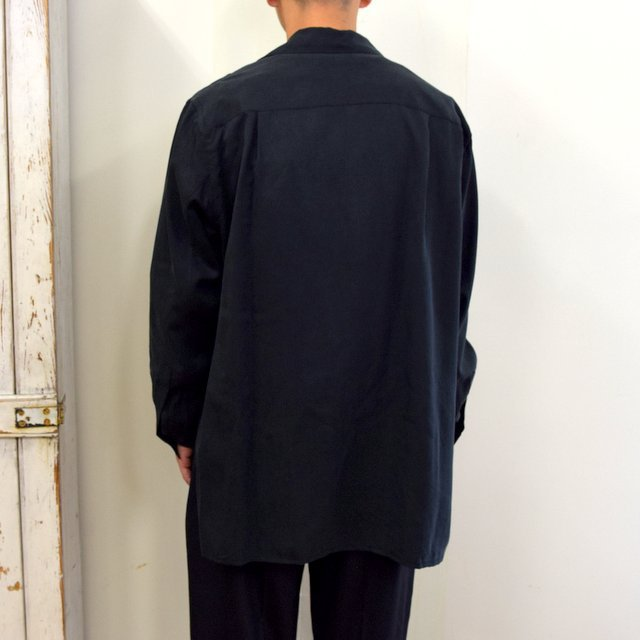 【2020】YOKE(ヨーク)/ BIG FLAP LONG SHIRTS -BLACK- #YK20AW0144SH(4)