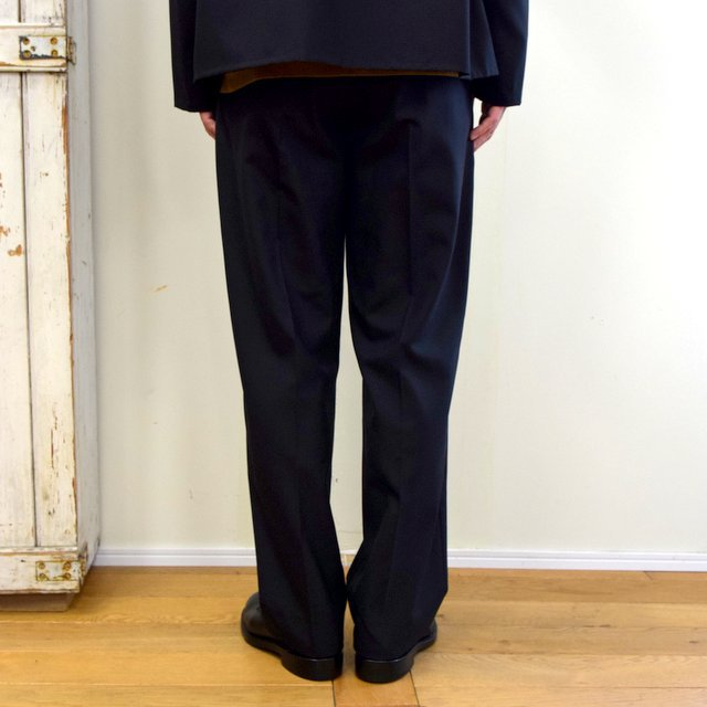 【2020】YOKE(ヨーク)/ FRONT TUCK BELTED WIDE TROUSERS -BLACK- #YK20AW0158P(4)