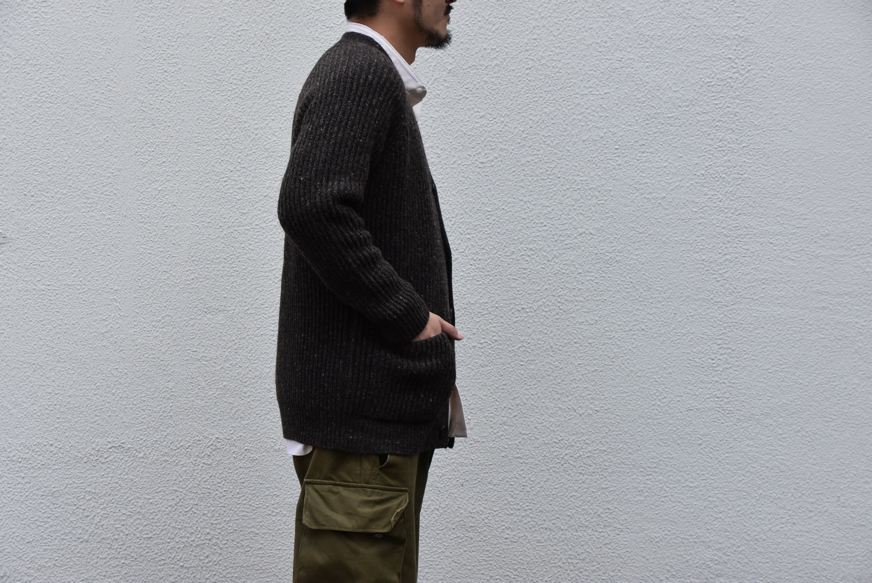 【2020】 Cristaseya(クリスタセヤ)/ CAMEL RIBBED CARDIGAN-BROWN- #22KA-CA-BB(4)