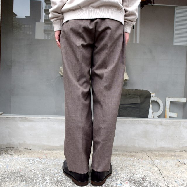 AURALEE(オーラリー)/ BLUEFACED WOOL WIDE SLACKS -TOP BROWN- #A20AP03BH(4)