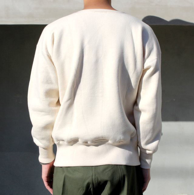 OLDE HOMESTEADER(オールドホームステッダー)/ CREW NECK LONG SLEEVE -ECRU- #EQP001(4)