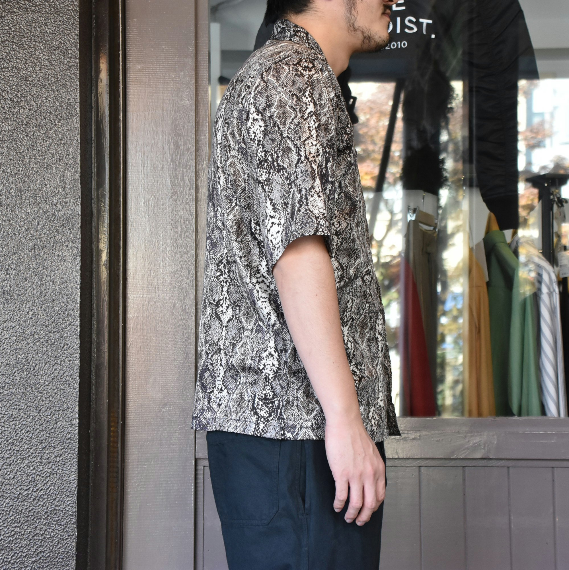 [2021]NEEDLES(ニードルス) CABANA SHIRT PYTHON PT -BLACK- #IN169(4)