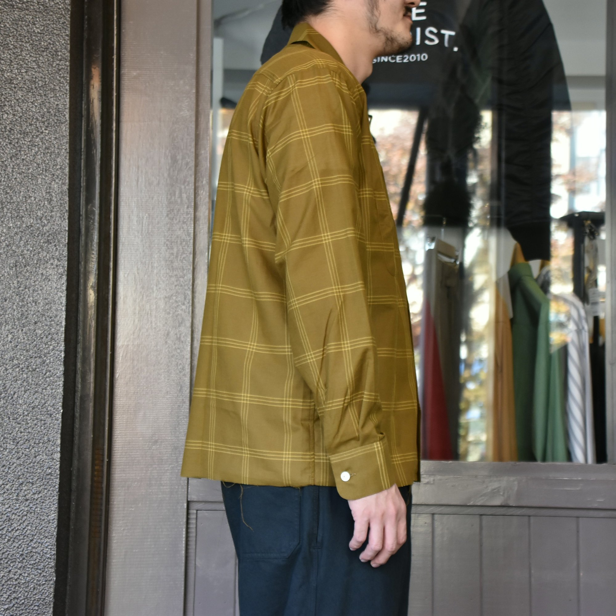 [2021]NEEDLES(ニードルス) C.O.B. ONE-UP SHIRT C/S PLAID -BROWN-#IN170(4)