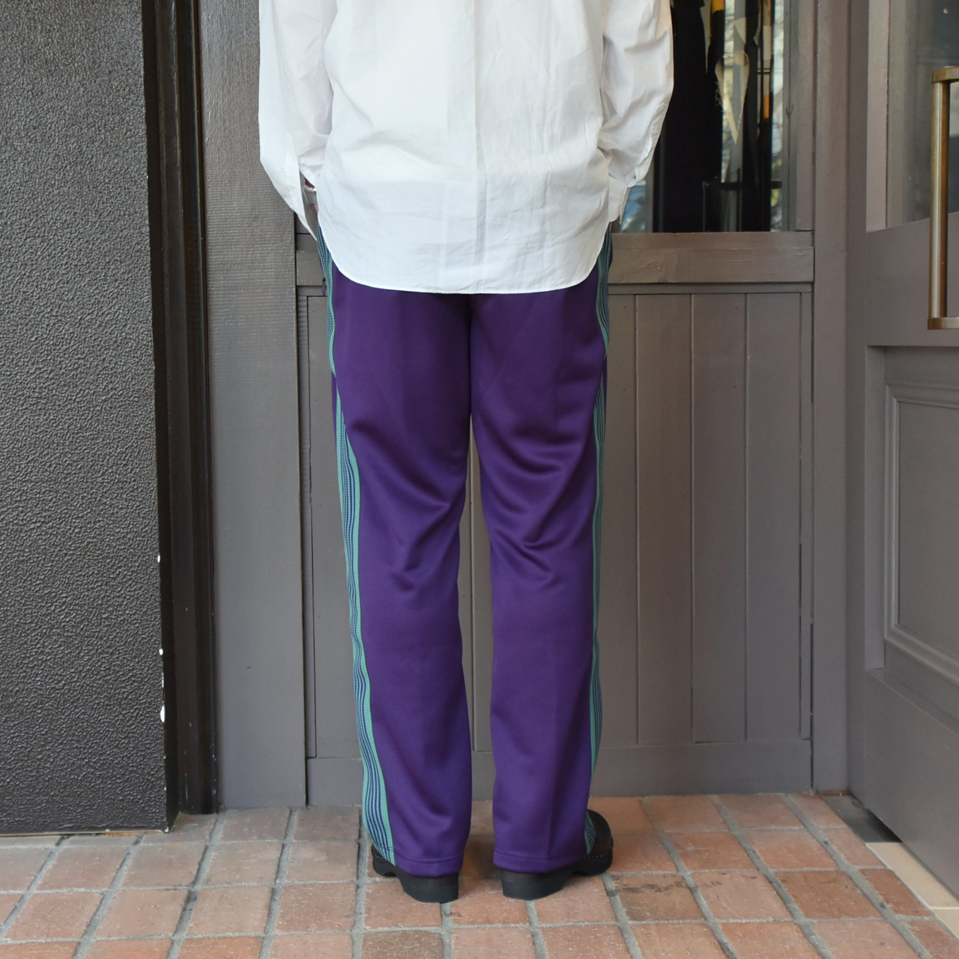[2021]NEEDLES(ニードルス) TRACK PANT POLY SMOOTH -EGG PLANT- #IN181(4)