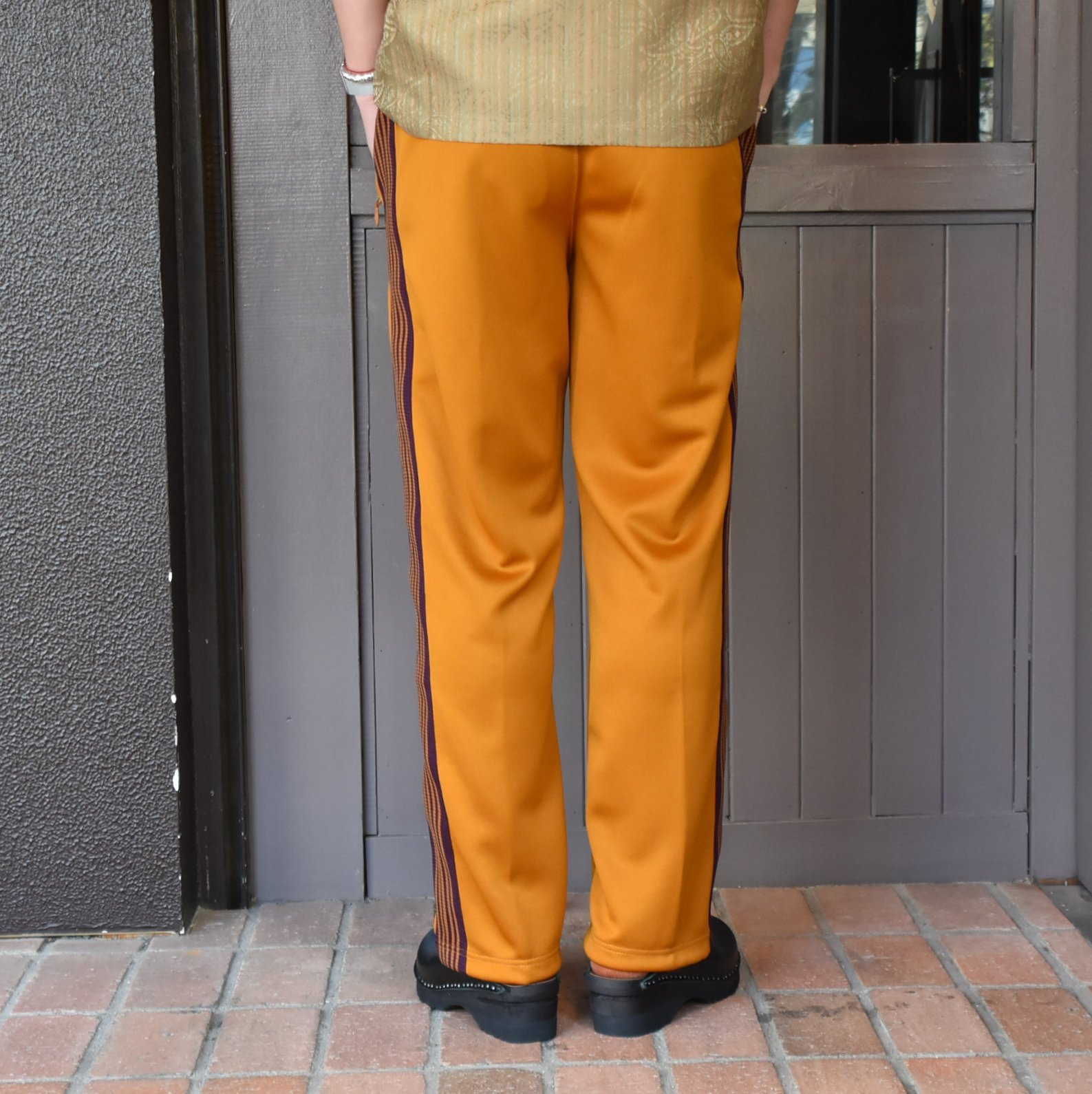 [2021]NEEDLES(ニードルス) TRACK PANT POLY SMOOTH -MUSTARD- #IN181(4)