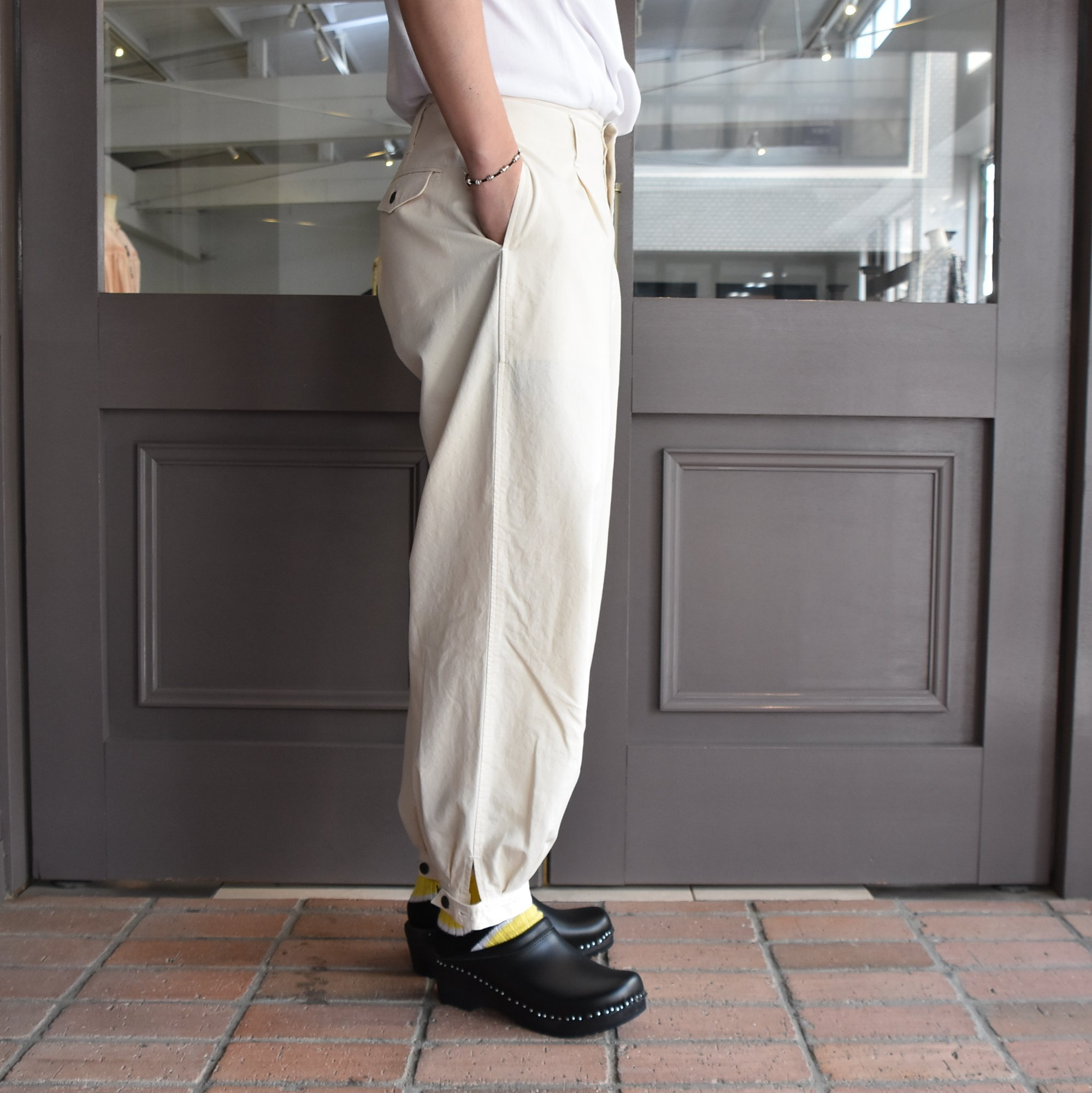 [2021]amachi.(アマチ) DetachablePocket Work Pants-Off White- #AY8-22(4)
