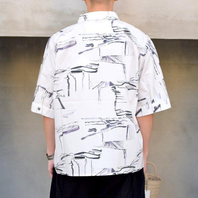 toogood(トゥーグッド)/ THE GARDENER SHIRT SHORT PRINTED POPLIN -PLOUGHED FIELDS-(4)