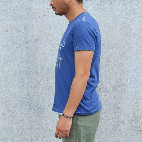 【30% off sale】Speakeasy(スピークイージー) T-shirt -WASHED ROYAL- (5)