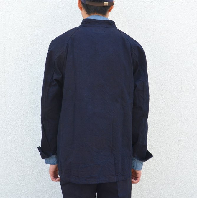 chimala(チマラ)/10OZ INDIGO X BLACK WEFT DENIM RAILROAD JACKET(UNISEX) -INDIGO- CS23-JT19(5)