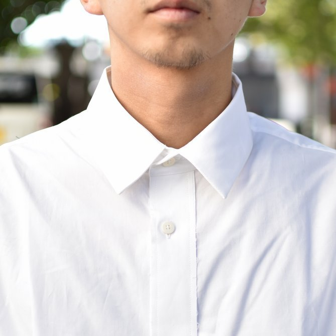 【2018 AW】 CAMIEL FORTGENS(カミエル フォートゲンス)/LONG SHIRT SHIRTING -WHITE- #CAMIEL-634(5)