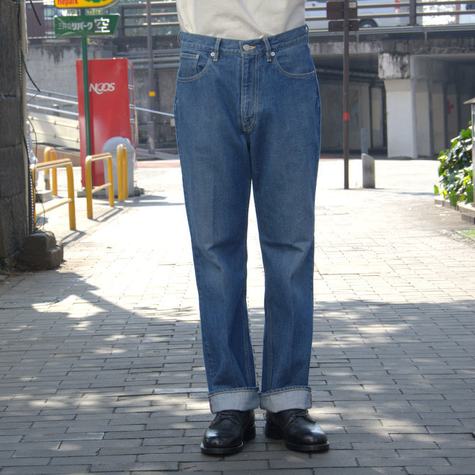 【20 SS】 AURALEE(オーラリー)/ WASHED HARD TWIST DENIM 5P PANTS #LIGHT INDIGO  A20SP07DM(5)