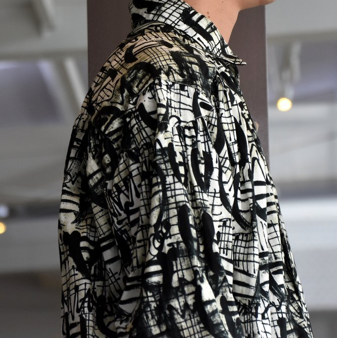 【2019 AW】AiE(エーアイイー) PAINTER SHIRT-ABSTRACT PRINT- FK469(5)