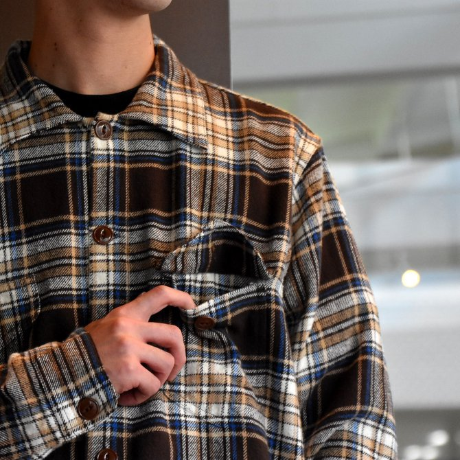 South2 West8(サウスツーウエストエイト) SMOKEY SHIRT-TWILL/PLAID #FK841(5)