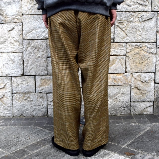 【30% OFF】is-ness(イズネス)/ COJ NU WIDE EZ PANTS -BROWN BLUE-  #30AWPT05-BR(5)