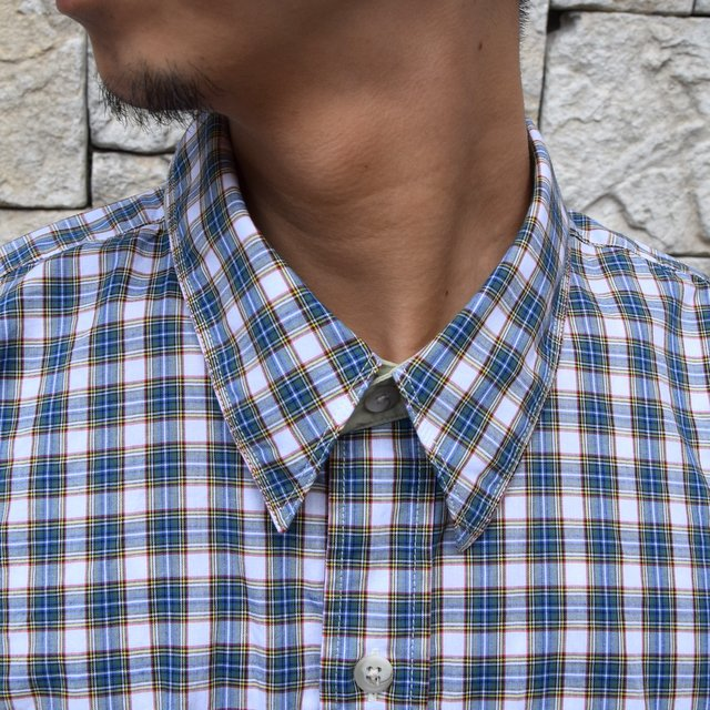 Marvine Pontiak Shirt Makers(マーヴィンポンティアックシャツメーカーズ)/TWO TONE L/S Shirt -GREEN CHECK- #MPSM-1913S(5)