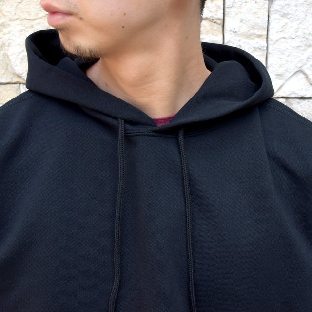 【2020 SS】AURALEE(オーラリー)/ SUPER SOFT SWEAT BIG P/O PARKA -BLACK- #A20SP01GU(5)