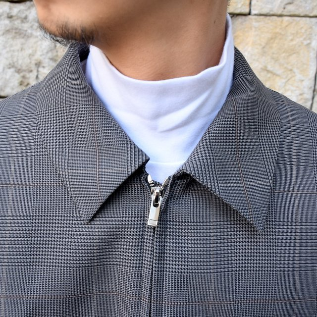 【2020 SS】stein(シュタイン)/ OVER SLEEVE ZIP JACKET -GLEN CHECK- #ST135-2(5)