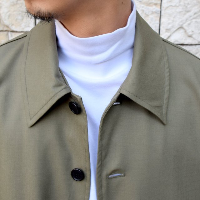 【2020 SS 】MARKAWARE(マーカウェア)/FLIGHT JACKET ORGANIC WOOL TROPICAL -OLIVE KHAKI- #A20A-04BL01C(5)