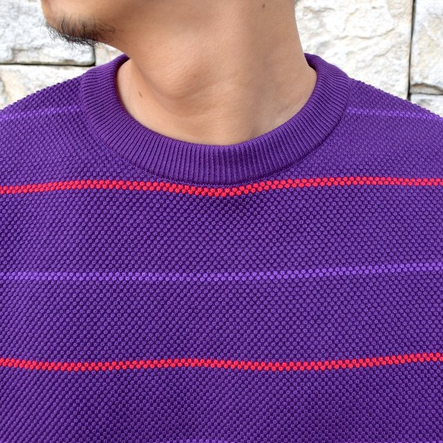 【2020 SS】crepuscule(クレプスキュール)/BORDER LONG SLEEVE TEE -PURPLE- #2001-001-PU(5)
