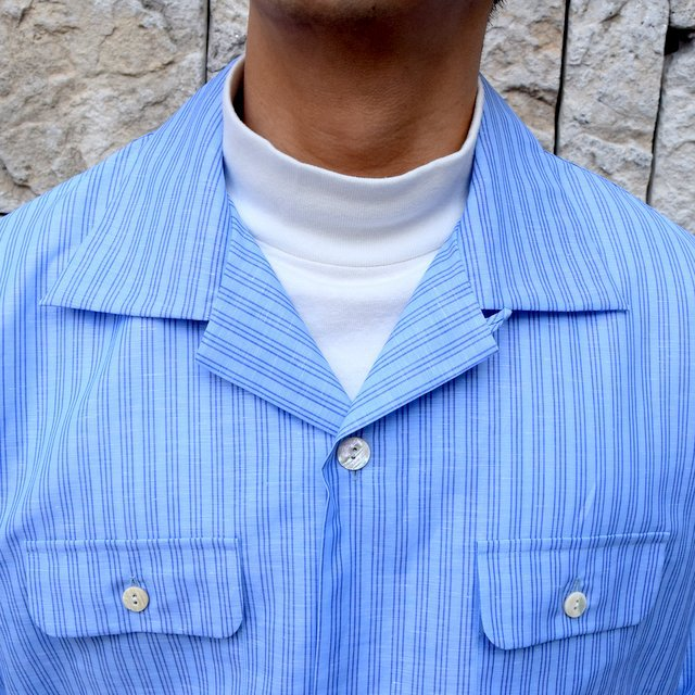 【30% off sale】【2020】MAATEE&SONS(マーティーアンドサンズ)/ ''DAVID&JOHN ANERSON'' OPEN COLLAR SHIRT -2色展開- #MT0103-0607A(5)