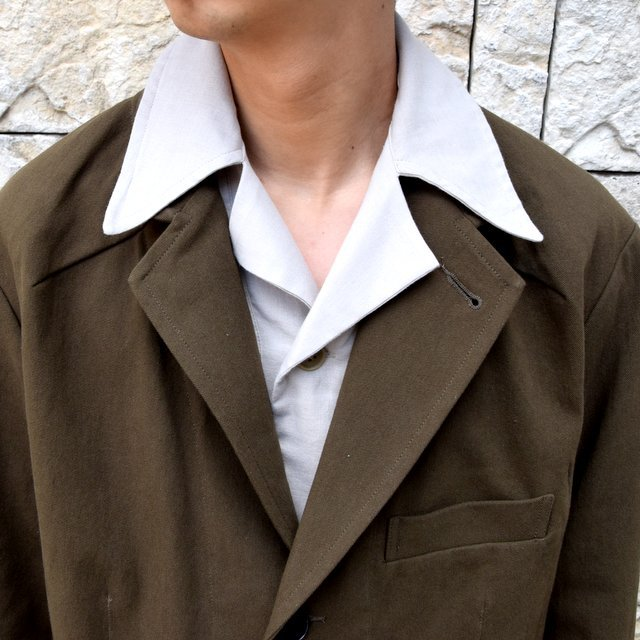 【2020 SS】HOMELESS TAILOR(ホームレステイラー)/ STEAL PK JACKET -KHAKI- #HTKS-002(5)
