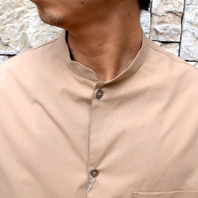 【30% off sale】【2020】blurhms(ブラームス) / Stand-up Collar Shirt L/S:LIGHT BEIGE  BHS-20SS019(5)