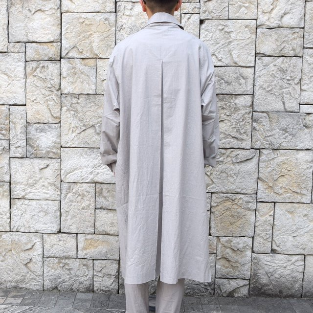 【30% off sale】【2020】FRANK LEDER(フランクリーダー)/ TRIPLE WASHED THIN COTTON COAT -GREY- #0911081-95(5)