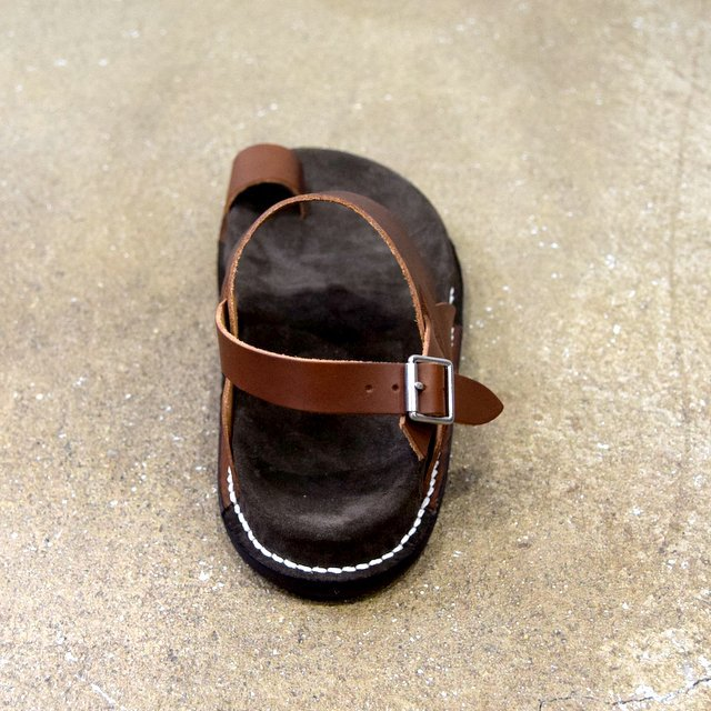 【2020 SS】KAPTAIN SUNSHINE × PHIGVEL / GURKHA FOOTBED SANDALS -BROWN- #KS20SGD06(5)
