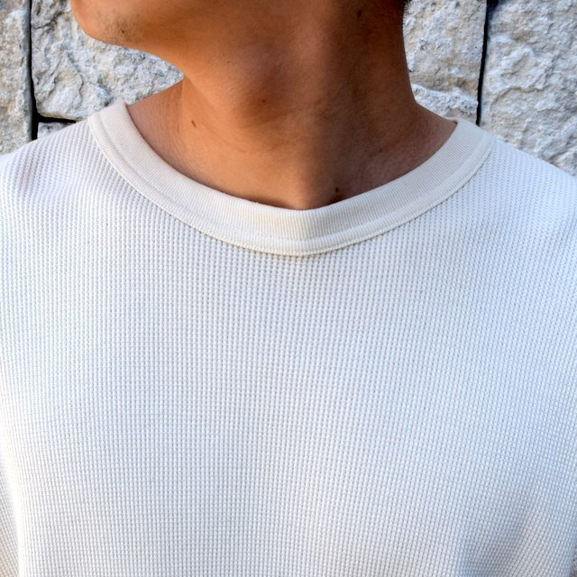 【2020 SS 】 MARKAWARE(マーカウェア)/ WAFFLE ONE SIDE RAGLAN S/S -RAW WHITE- #A20A-12CS01B(5)