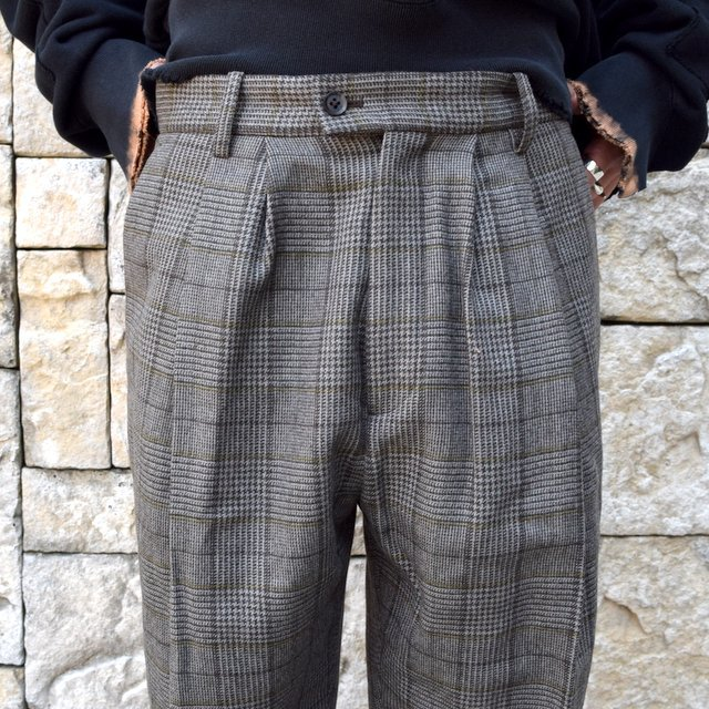 【2020】stein(シュタイン)/ WIDE TAPERED TROUSERS -GLEN CHECK- #ST178-2(5)