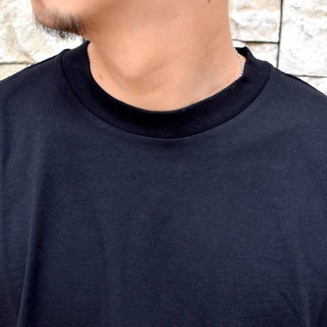 【2020】blurhms ROOTSTOCK(ブラームス) / SILK COTTON JERSEY L/S LOOSE FIT -BLACK- #ROOTS-F206(5)