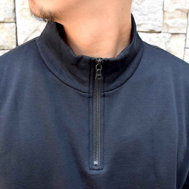 AURALEE(オーラリー)/ ELASTIC HIGH GAUGE SWEAT HALF ZIP P/O -BLACK- #A20AP01NU(5)