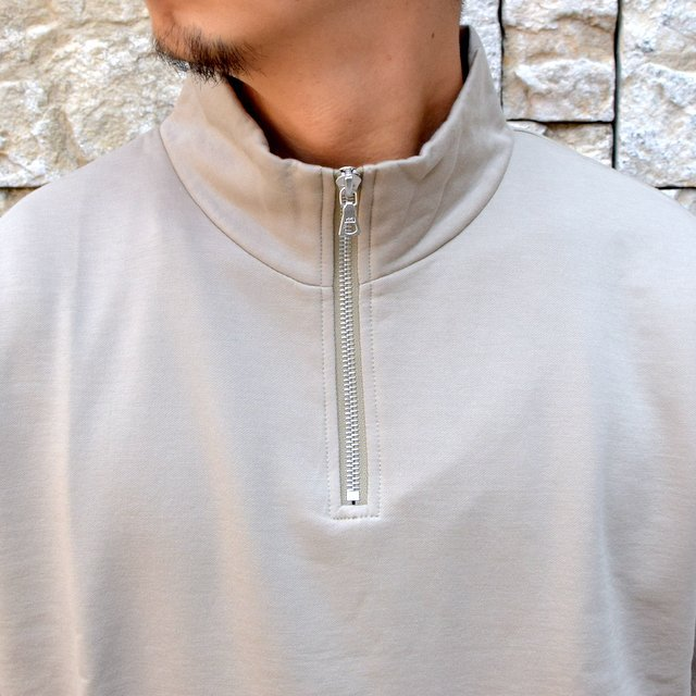 【2020】 AURALEE(オーラリー)/ ELASTIC HIGH GAUGE SWEAT HALF ZIP P/O -KHAKI GRAY- #A20AP01NU(5)