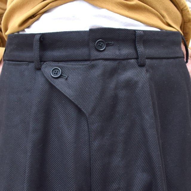 【2020】blurhms(ブラームス)/ SUPER SURGE WIDE SLACKS -BLACK- #BHS20F002(5)