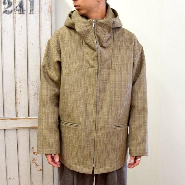 AURALEE(オーラリー)/ BLUEFACED WOOL DOUBLE CLOTH ZIP HOODIE -MIX BEIGE- #A20AB02BN(5)