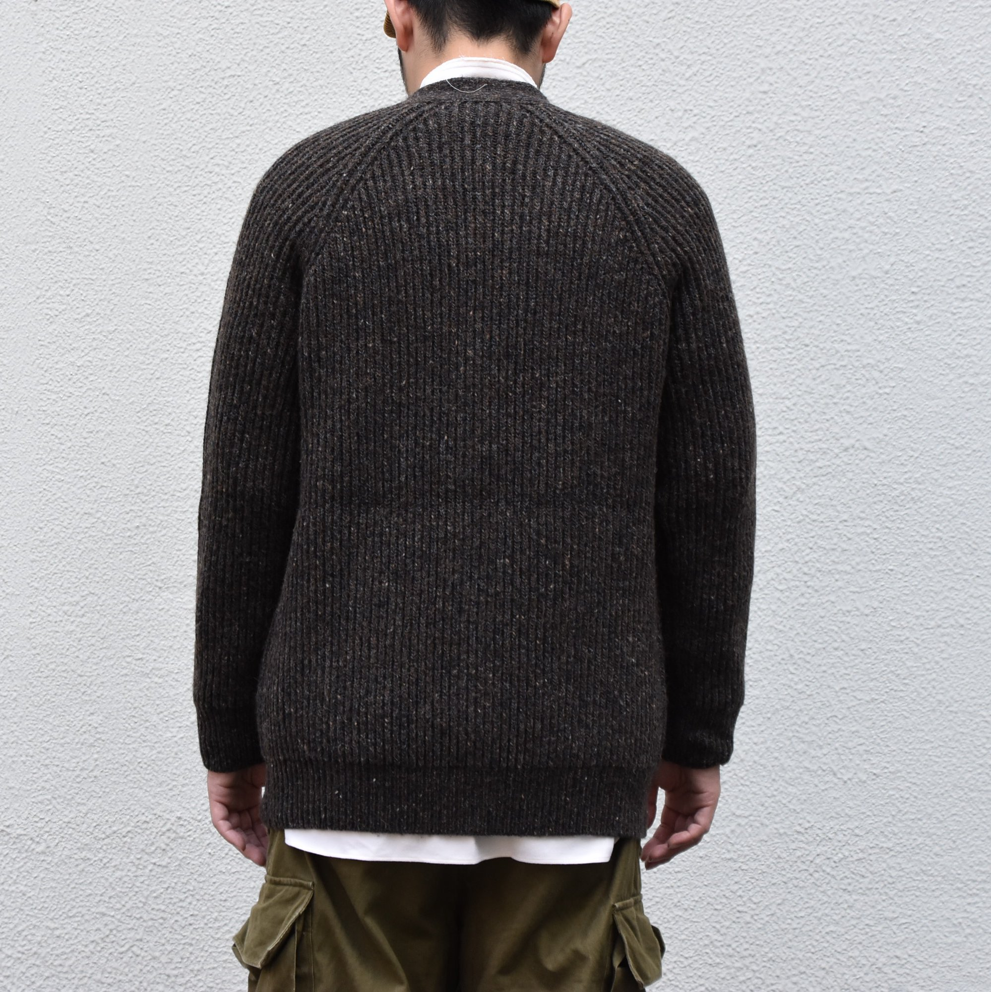 【2020】 Cristaseya(クリスタセヤ)/ CAMEL RIBBED CARDIGAN-BROWN- #22KA-CA-BB(5)
