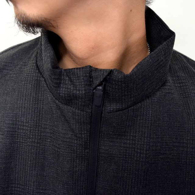 DESCENTE PAUSE(デサント ポーズ)/ WOOL MIX STAND COLLAR ZIP UP BLOUSON -GRBK- #DLMQJC33(5)