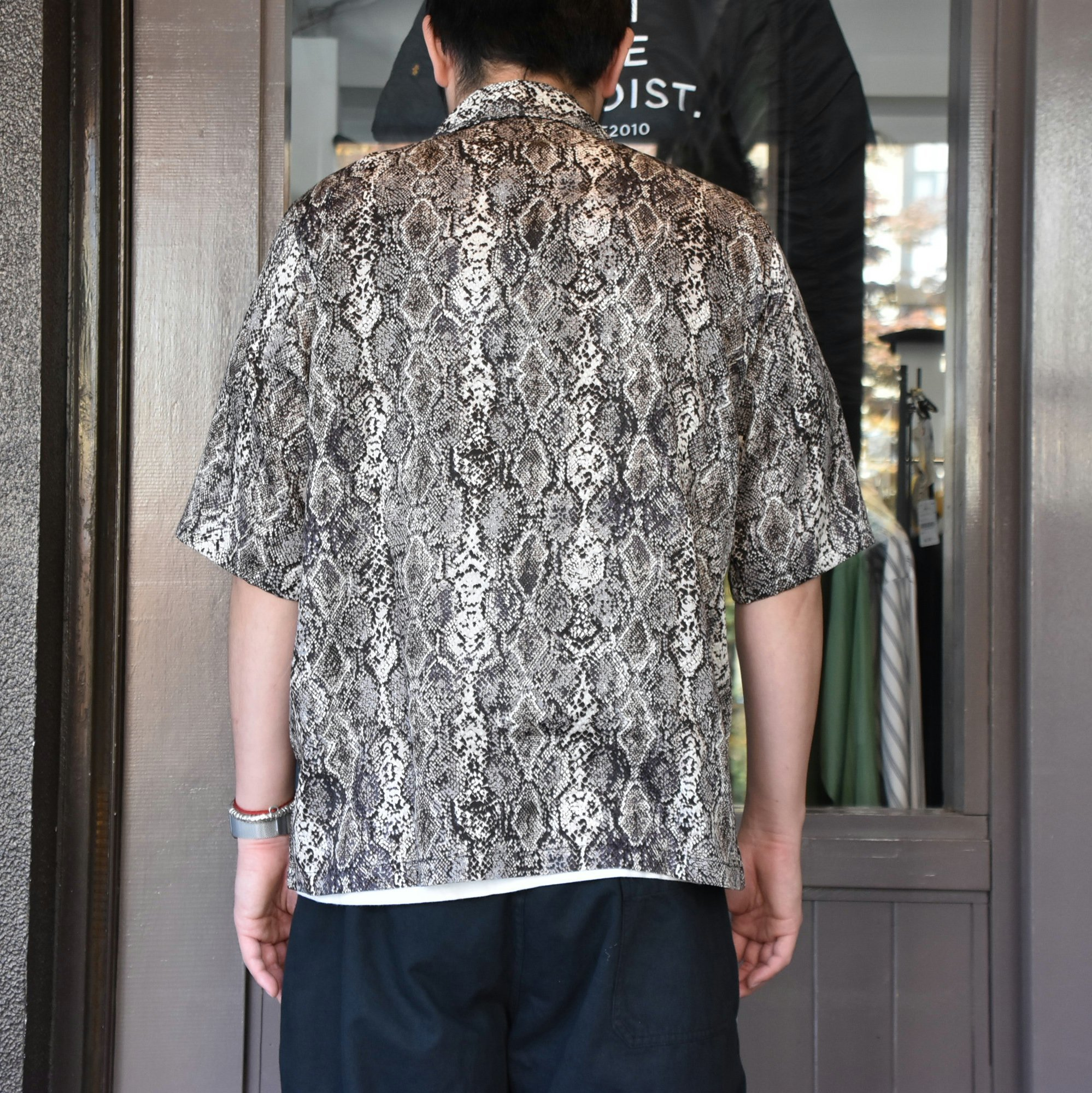 [2021]NEEDLES(ニードルス) CABANA SHIRT PYTHON PT -BLACK- #IN169(5)